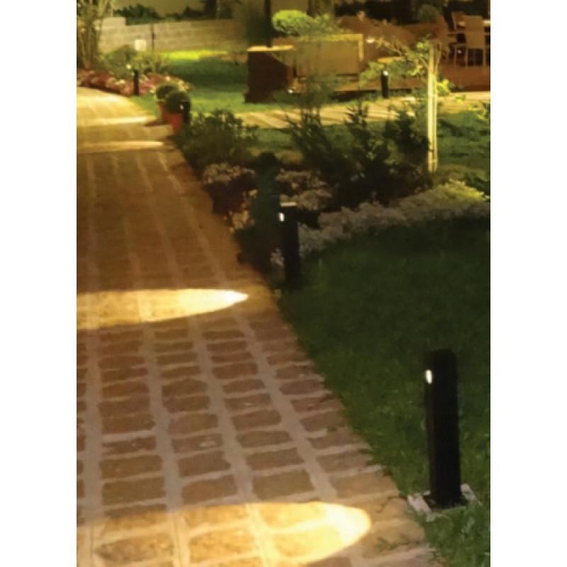 Poste Balizador Quadrado Metal  Branco 2700K (Quente) - Interlight 4016-S-BM