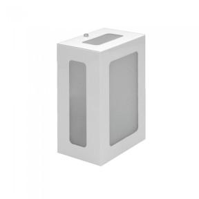 Arandela Alumínio Retangular 1x E-27 - Hansa 145