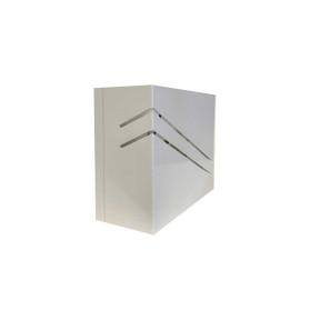 Arandela Branca Friso Diagonal 1xG9 - Hansa 172 P