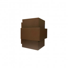 Arandela Interna Aluminio Tabaco 16cmH-  Piuluce 3055