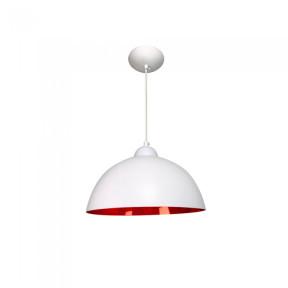 Pendente Esfera Alumínio Branco e Vermelho 28cm 1xE27 - Caisma 3702
