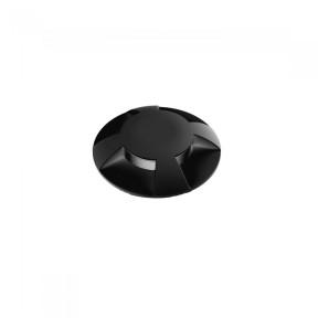 Balizador de solo Preto com Led Multi Fachos - Interlight IL3923-S-PT