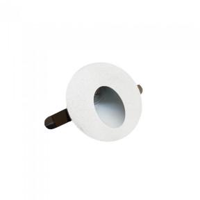 Mini Embutido Balizador de Parede com Alojamento Redondo com LED Integrado Branco