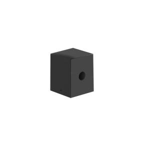 Balizador quadrado em metal preto