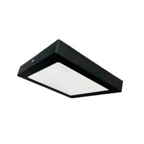 Painel LED-Sobrepor - Preta -18W-6000K-22,5cm- Evoled LE4634