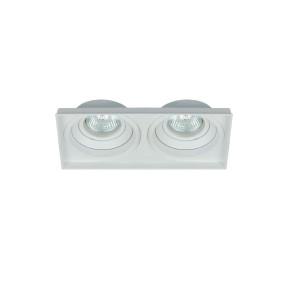 Spot No Frame Orientável Duplo Branco 2x MR16 -  4719BM Interlight