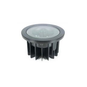 Embutido solo LED Flat In Ø19.5cm- 25W 10° Preto 2700k  - Interlight 3653-FE-S-PX