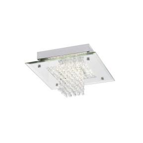 Plafon LED Cristal 12W 4000k Metal Cromado - Quality QPL883