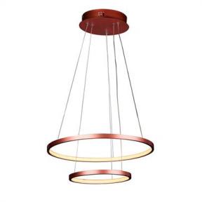 Pendente LED Montreal 2 Aros 40W 3000K Bivolt Ø50cm+Ø30cm - Quality QPD1301 Cores