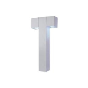 Poste de Jardim Alumínio Branco 2xGU10 -  Ideal PA9150/2-BR