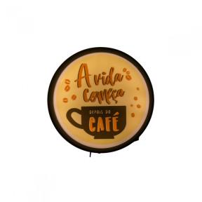 Luminária Decorativa de Parede Sign Coffee Café - Usare