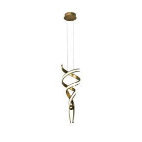 Pendente Espiral Silicone Dourado LED 3000K (Branco Quente)  Ø30cm - Sindora  DCD015046