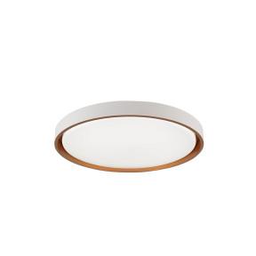 Plafon LED Redondo Branco e Dourado  Ø41cm  24W 3000K/4000K/6000K  - Hevvy Iluminação LY- 8762M BC+DR