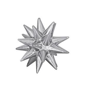 Ouriço Decorativo Prata em Cerâmica  - Mart  08724