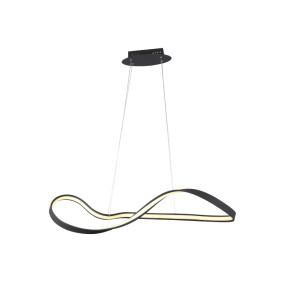 Pendente Flow Preto 93x33x26cm LED 30W - Bella SB008