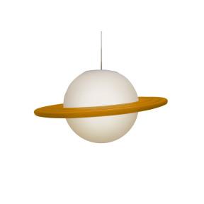 Pendente Saturno Laranja e Branco  - 1-E27 - Usare 1789