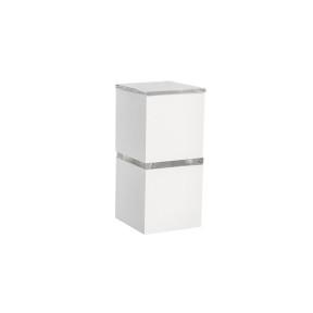 Arandela Tóquio Branca 1x Halopin 26cm - Acend 00869